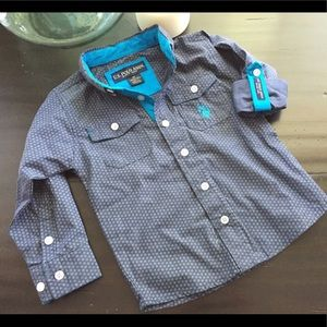 US Polo Button Up Collared Shirt